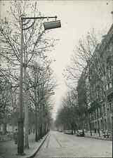 Paris, avenue du Président Wilson Vintage silver print, Paris Ville Lumière !