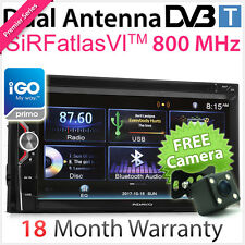 Double 2 DIN In Dash Car DVD GPS Digital TV DVB-T MPEG-4 Player Stereo Radio AT