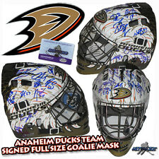 ANAHEIM DUCKS Team Signed FULL SIZE GOALIE MASK w/COA  GETZLAF - PERRY