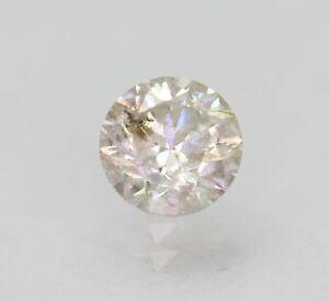 Certified 0.55 Carat J SI2 Round Brilliant Enhanced Natural Loose Diamond 5.08mm