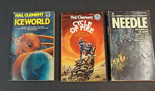 Hal Clement Vintage Paperback Sci Fi PB Book Lot Iceworld Needle Cycle of Fire