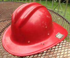 Vintage Bullard Hard Boiled Fiberglass Fireman Helmet Size 6-1/2 – 7-5/8, 1970s