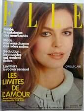ELLE 11/1981: CYRIELLE CLAIRE_BERNARD LAVILLIERS & LISA LYON_GEORGES BRASSENS_