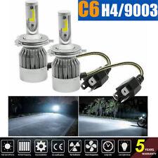 Pair CREE H4 9003 C6 LED Car Headlight Kit High/Low Beam Light Turbo Bulbs 6000K