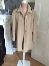 "German Beige Brown Length 34"" 60""Wool 10% Cashmere Coat VGc Size 40 (14) Excel"