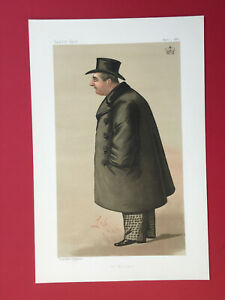 """Original 1888 Vanity Fair Print of The Marquis of Ailesbury -""""The Marquis"""""""