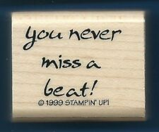 YOU NEVER MISS A BEAT! Music Card Gift Tag STAMPIN' UP! 1999 CRAFT RUBBER STAMP