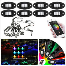 8X 12V Wireless Bluetooth APP RGB LED Car Boat Underbody Chassis Atmosphere Lamp