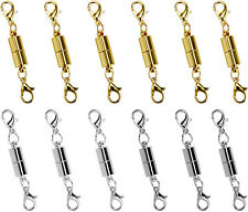 12 Pc Magnetic Lobster Lock Clasps for Necklace Bracelet Jewelry Secure Extender