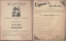 Al Capone Poster Set Wanted Speakeasy Rules Gangster Scarface Speak Easy