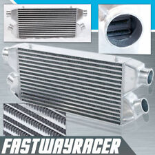 Universal 22''x11''x3'' 2 In-Out Twin Turbo Front Mount Intercooler 2.5'' Inlet