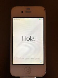 Apple iPhone 4S - 8GB - White Sprint or Ting (CDMA) IOS 7.1.2 - Used Condition