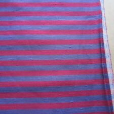 50cm X 124CM Vintage Curtain Fabric 1970s Pink Purple Retro Stripe Craft Sew