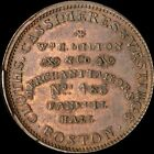 W.H. MILTON CORP # 4 & 6 FANEUIL HALL TOKEN BOSTON,MA  RARE!