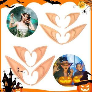 Latex Elf Ears Cosplay Wrap Fairy Goblin Artificial Halloween Costume Party Ears