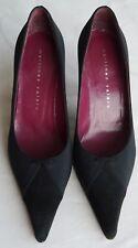 MARTINEZ VALERO Ladies Elegant Black Leather Court Shoes Size 38.5