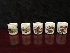 Vintage Porcelain Japanese Sake set of 5 (in original box)
