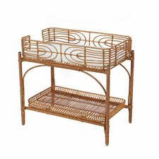 New Faux Rattan Change Table Baby Doll Essential Storage Kids Pretend Play Toy M