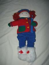"Madeline Doll 20"" Ski Plush Eden Htf Retired Winter Removable Clothes Outfit"