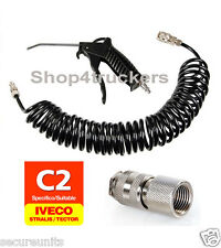 HGV Truck lorry air dust blow gun kit Iveco Stralis quick connector compressor