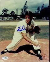 Clem Labine Brooklyn Dodgers Signed Jsa Sticker 8x10 Photo Authentic Autograph
