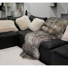 Bowron Genuine Real Large Double Twilight Longwool Sheepskin Rug 2' X 6'