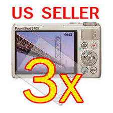 3x Canon PowerShot S100 Digital Camera LCD Screen Protector Cover Guard Film