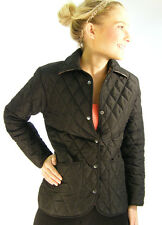 Campbell Cooper Brand New Ladies Fitted Quilted Riding Jacket Coat Black 14