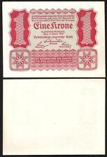 AUSTRIA 1 Krone 1922 UNC P 73