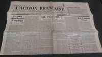 JOURNAL NATIONALISTE L'ACTION FRANCAISE 21 AOUT 1934 N° 233 ABE