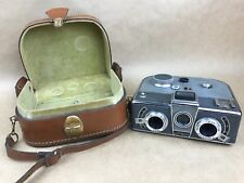 Simda Panorascope Stereo Grey w/ 25mm f/3.5 P.Angenieux - Rare French Camera