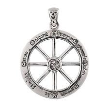 Sterling Silver Wheel of the Year Pendant - Dryad Design Wiccan Sabbat Talisman