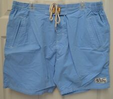 MEN'S SUPERDRY PREMIUM SKY BLUE SWIM TRUNKS BOARD SHORTS ~ XXL ~ W38 ~ NWT ~ $80
