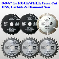 "6x 3-3/8"" Metal Wood Stone Saw Blade for ROCKWELL VersaCut RK3440K Makita 15mm"