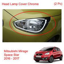Head Lamp Light Cover Trim Chrome 2Pc Fit Mitsubishi Mirage Space Star 2016 - 17