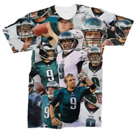 New Nick Foles 3D T-Shirt Philadelphia Eagles Many Faces Tee Style Size S - 7XL