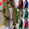 Women Leopard Slim Fit Business Blazer Suit Jacket Coat Outwear Cardigans Tops