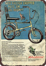 1970 Raleigh Chopper Bicycle Reproduction Metal Sign 8 x 12