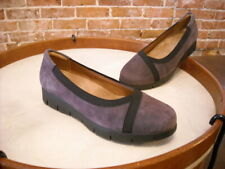 Clarks Daelyn Hill Purple Nubuck Leather Slip On Shoes NEW
