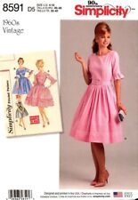 Simplicity Sewing Pattern 8591 Womens Vintage Dress Costume Size 4-12 NEW