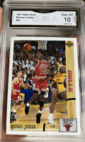 1991 Upper Deck Michael Jordan Card Gem Mint 10 Chicago Bulls Hall Of Fame MVP