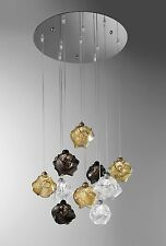 Lampadario contemporaneo design moderno cromato e vetri BELL gomitoli 3011/S10L