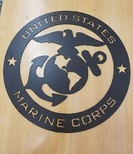 USMC metal wall art plasma cut sign gift idea us marines