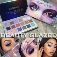 US Beauty Glazed 18 Color Eye Shadow Palette Matte Pearlescent Eyeshadow Beauty