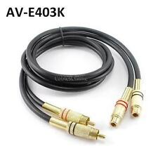 3ft Premium 2-RCA Gold Plated Male/Female Extension Cable, CablesOnline AV-E403K
