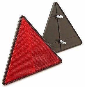 Reflector triangular trasero - Con pernos - Rojo