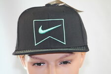 NIKE BLACK MEN'S SNAPBACK GRAPHIC ONE SIZE FITS ALL HAT BALLCAP CASUAL / GOLF