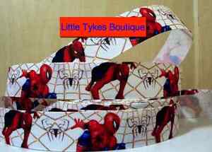 """Spiderman Ribbon 1"""" (25mm) Wide 1m is only £1.49 NEW UK SELLER FREE P&P"""