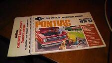 CHILTON'S PONTIAC 1970 - 1982 EASY CAR CARE OWNER'S MANUAL