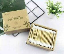 100 % Biodehradable Cotton Buds, Plastic Free, Bamboo Box 200 x 2